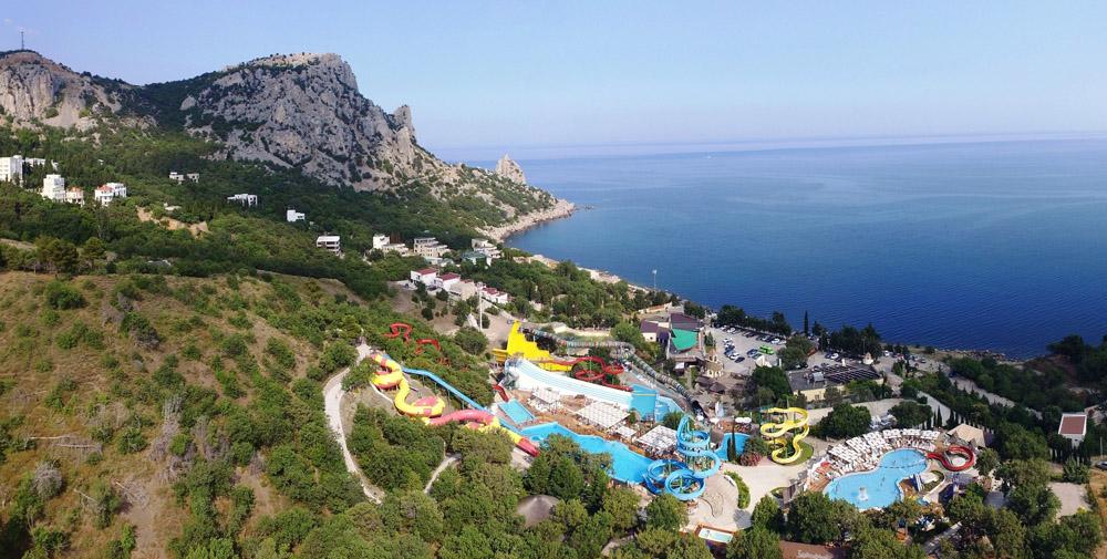 Аквапарк в Крыму в Симеизе Голубой залив